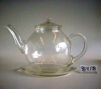 Pyrex Round-shape Teapot with Lid and Tea Tile