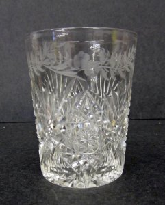 """Tumbler in """"Cut No. 1 and Engraved"""" Pattern"""