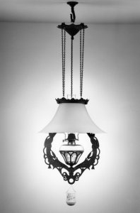Bell shade lamp [picture]