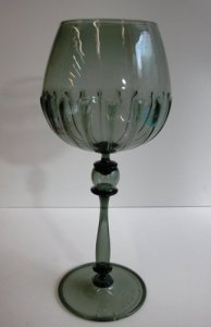 Goblet with Ribbed Bowl
