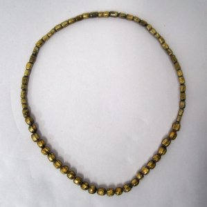 Necklace with 48 Reproduction Gold-glass Beads