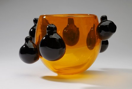 Orange Vessel Prototype with Black Pods