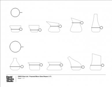 Proposed blown glass shapes [electronic resource].