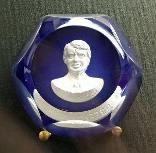 Paperweight with Sulphide of Jimmy Carter