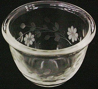 Engraved Pyrex Cup
