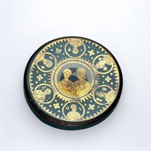 Goldglas Plaque (Zwischengoldglas)