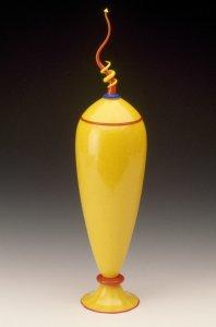 Funktional sculpture lidded vessel #057 [slide].