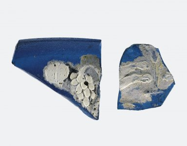 2 Fragments of Cameo Glass
