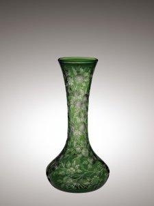 Green Rock Crystal Engraved Vase