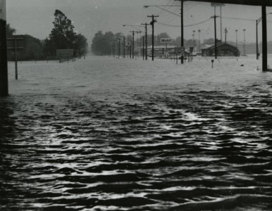 [Victory Highway, Painted Post, during the flood of June 23, 1972] [picture].