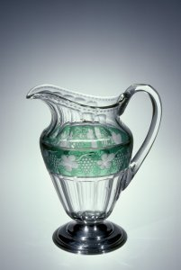 """Pitcher in """"Flutes and Grapes"""" Pattern"""