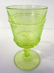 Yellow Glass Goblet