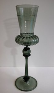 Goblet with Ribbed Bowl and Applied Trail