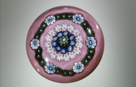 Paperweight with Millefiori Rings