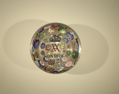 Paperweight with Rose and Royal Crown