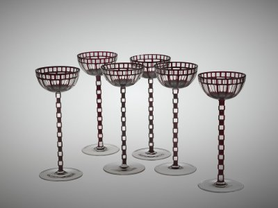 Set of Six Wineglasses in Presentation Box