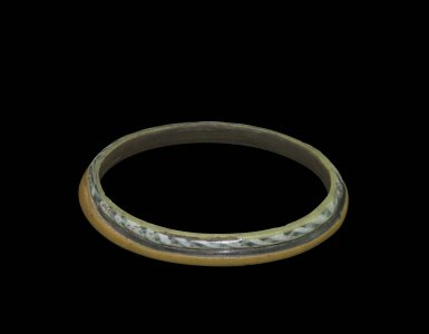 Bracelet with Trail and Twisted Cane