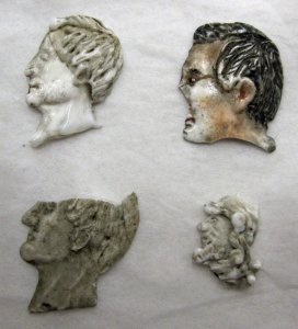 4 Profile Male Heads