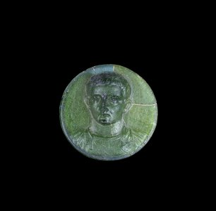 Fragment of Medallion with Portrait of Tiberius or Claudius
