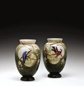 2 Vases with Japonisme Scenes