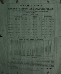 French window and picture glass.