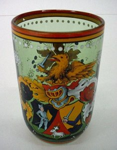 Armorial Beaker with Elaborate Decorations