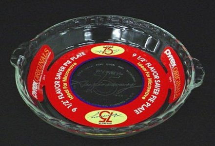 Pyrex Pie Plate with Paper Insert