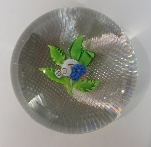 Paperweight with Floral Spray