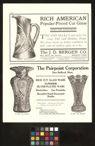 Glass advertisements from The Keystone.