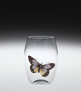 """Balloon"" Convex Tumbler with Butterfly"