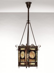 Aesthetic-style Stained Glass Lantern