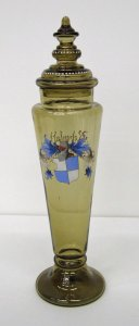 Covered Pokal Decorated with Armorial and Motto