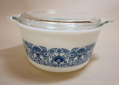 1 Quart Pyrex Casserole with Lid