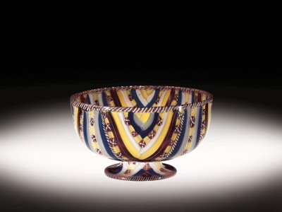 Footed Ribbon Bowl