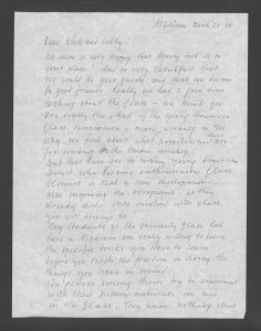 [Letter to Dominick and Elizabeth Labino from the Valkemas].