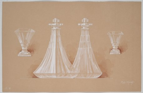 [Design drawing for decanters and glasses] [art original].