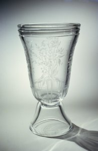Vase with Engraved Flowers
