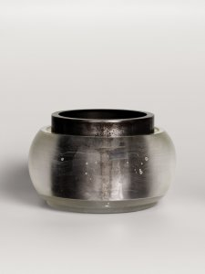 Clear Vessel with Steel Liner [picture].