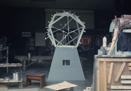 [Color transparency of metal structure of Icosahedron sculpture] [slide].