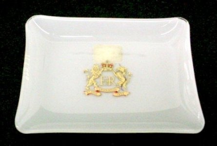 White Tray with Royal Crown
