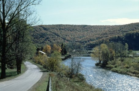 """The Cohocton River at Cooper Plains, NY"" [slide]."