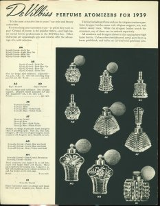 DeVilbiss perfume atomizers for 1939.