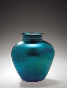 Blue Aurene Vase