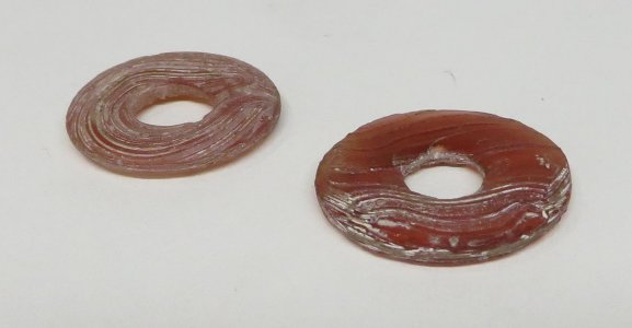 2 Annular Ornaments (for ear-rings)
