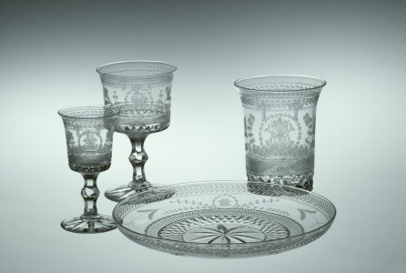 """4 Pieces of Tableware in """"Louis XIV"""" Pattern"""