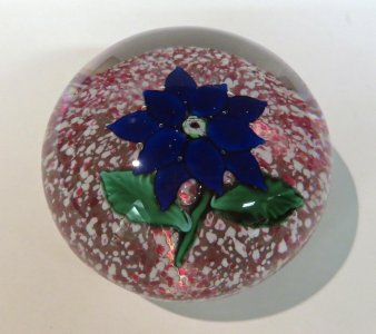 Paperweight with Blue Dahlia