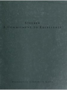 Steuben, a commitment to excellence: distinctive corporate gifts.