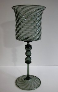 Goblet with 3-Bubble Stem
