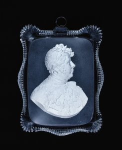 Plaque with Sulphide of King George IV