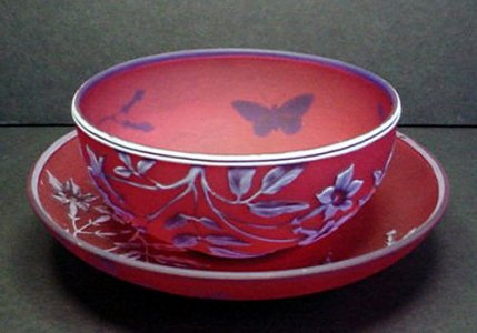 Cameo Finger Bowl and Plate